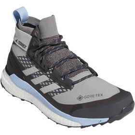 adidas TERREX Free Hiker Gore-Tex Hiking Shoes Women chalk solid grey/grey two/glossy blue